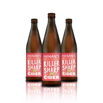 A naturally killer sour cider! Fresh, earthy and sharp, the flavours carry a fierce tangy apple edge that's super refreshing a winner from Hogan's Cider.