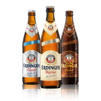 Erdinger is one of Germany's finest breweries, this mixed beer case of Weissbier, Dunkel & Kristall highlights some of the best Erdinger offer.