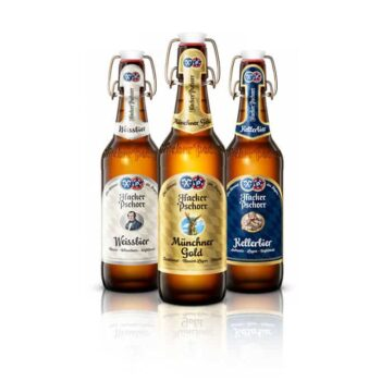 If you like Hacker Pschorr you'll have a lot of fun trying all the different styles on offer. With the Münchner Gold, Hefe Weissbier & Kellerbier.