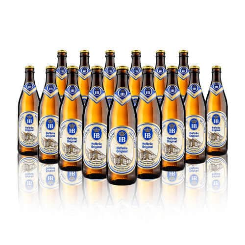 The Hofbräu Original is the classic form of this superbly well-balanced lager. A true feel of Munich when you take a sip of this mega German helles beer.