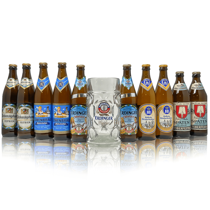 Discover the magic of Oktoberfest with this limited availability Oktoberfest Mixed beer case. Along with an official branded stein.