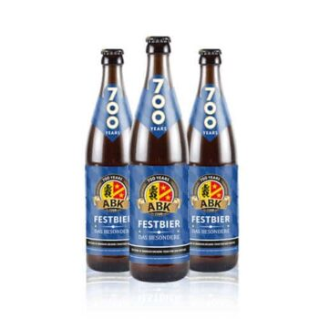 ABK Festbier is brewed specially for the Oktoberfest season. Full bodied and full flavoured. ABK developed a Festbier for the coming months.